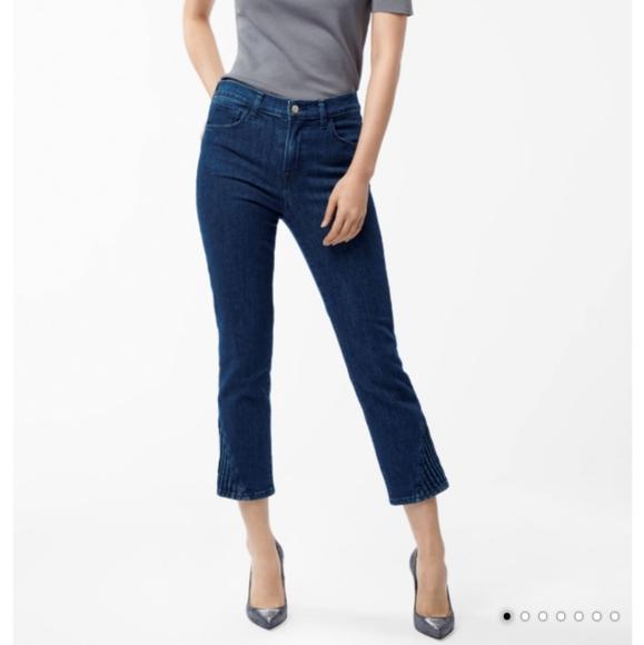 J Brand Denim - Jbrand Ruby High-Rise Cropped Cigarette Match Jean